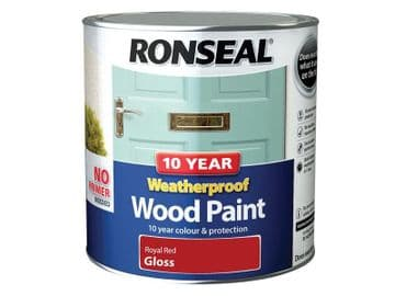 10 Year Weatherproof Wood Paint Royal Red Gloss 2.5 litre